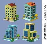 various cartoon style isometric ... | Shutterstock .eps vector #245214727