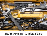 toolbox with tools.  wrench | Shutterstock . vector #245215153