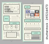 retro document style one page...