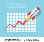 flat illustration with... | Shutterstock .eps vector #245221867