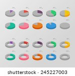set of color isometric circle... | Shutterstock .eps vector #245227003