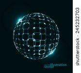abstract technological vector... | Shutterstock .eps vector #245232703