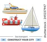 Sea Transport  Boat  Submarine...