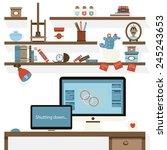 flat design vector illustration ... | Shutterstock .eps vector #245243653