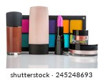 set of professional makeup and... | Shutterstock . vector #245248693