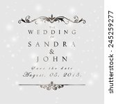 wedding card or invitation with ... | Shutterstock .eps vector #245259277