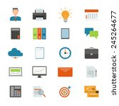 flat vector business icon for... | Shutterstock .eps vector #245264677