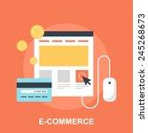 e commerce | Shutterstock .eps vector #245268673