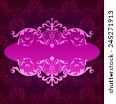 vector royal frame with... | Shutterstock .eps vector #245271913
