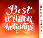 vector holidays calligraphy... | Shutterstock .eps vector #245272183