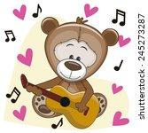 Teddy Bear With A Guitar On...