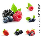 berry theme  mix composed of... | Shutterstock . vector #245275903