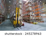 large modern warehouse with