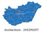 hungary map   Shutterstock .eps vector #245290297