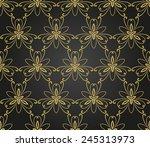 floral vector oriental pattern... | Shutterstock .eps vector #245313973