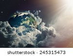 abstract earth view in the... | Shutterstock . vector #245315473