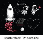 cute hand drawn elements for... | Shutterstock .eps vector #245326123