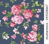 seamless flower background   in ... | Shutterstock .eps vector #245328667