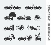 car crash related icon set | Shutterstock .eps vector #245329687