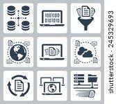 computer data related vector... | Shutterstock .eps vector #245329693