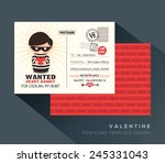 cute red valentine heart bandit ... | Shutterstock .eps vector #245331043