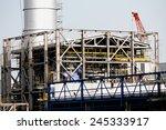 construction of gas combine... | Shutterstock . vector #245333917