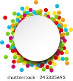 colorful celebration background ... | Shutterstock .eps vector #245335693