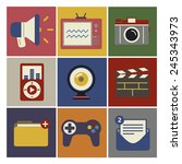 social media funky internet... | Shutterstock .eps vector #245343973