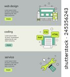 flat designed banners for web...