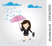 business woman going to work... | Shutterstock .eps vector #245363503