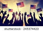 flag usa july 4 celebration...   Shutterstock . vector #245374423