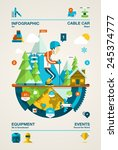 mountain infographic with ski... | Shutterstock .eps vector #245374777