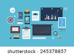 flat design vector illustration ... | Shutterstock .eps vector #245378857