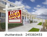 sold home for sale real estate... | Shutterstock . vector #245383453