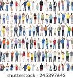 multiethnic casual people... | Shutterstock . vector #245397643