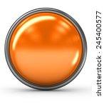 Orange Button White Background