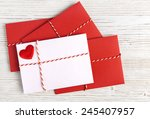 Envelope Mail  Red Heart And...