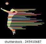 volleyball player vector... | Shutterstock .eps vector #245410687