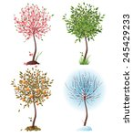 Small Tree In 4 Different...