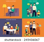 Family With Children Concept...