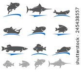fish set. vector | Shutterstock .eps vector #245438557