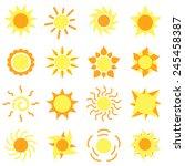 sun  icons | Shutterstock .eps vector #245458387