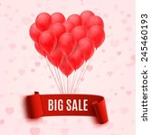 balloons in form of heart... | Shutterstock . vector #245460193