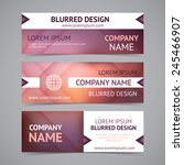 vector company banners with... | Shutterstock .eps vector #245466907