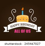 birthday card design  vector... | Shutterstock .eps vector #245467027