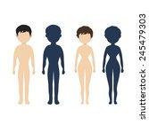 human body  in flat style... | Shutterstock .eps vector #245479303