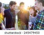 young people in real authentic... | Shutterstock . vector #245479453