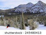 eastern oregon downhill skiing | Shutterstock . vector #245480413