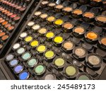 Colorful Display Of Eye Makeup...