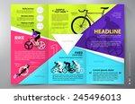 brochure leaflet design tri... | Shutterstock .eps vector #245496013